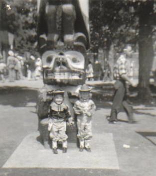 Cowpokes at the totem